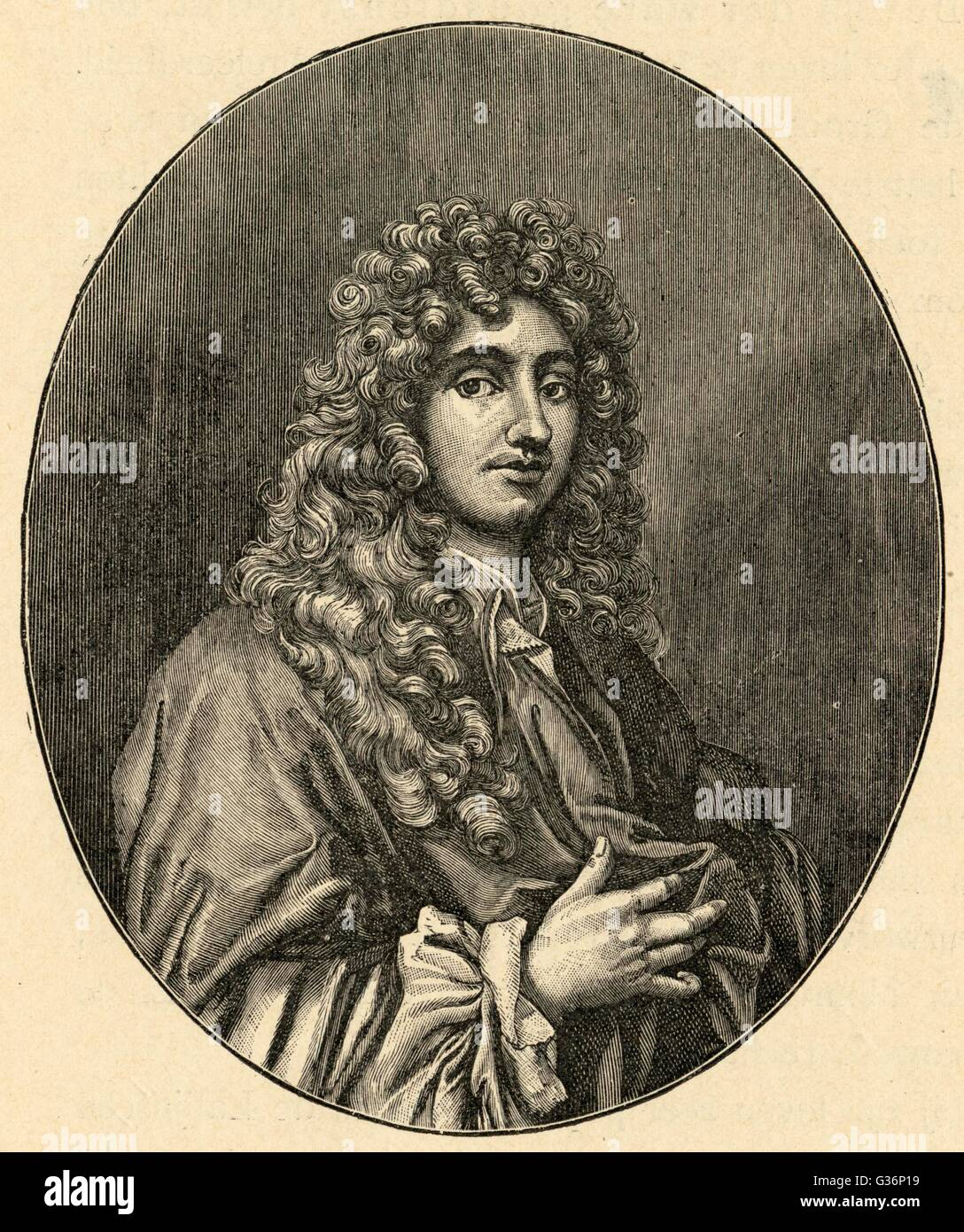 Christian (or Christiaan) Huygens, Dutch mathematician, physicist, horologist and astronomer, notable for his contributions - Stock Image