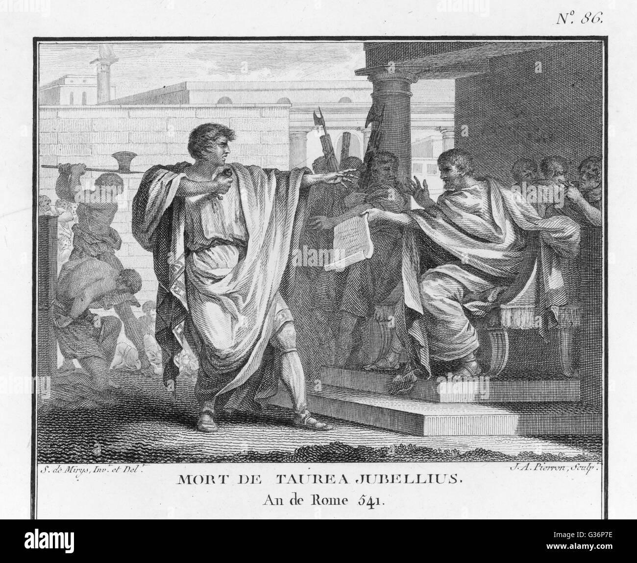 Morte di Taurea Jubellius, dipinto di Jean-Jacques Lagrenée