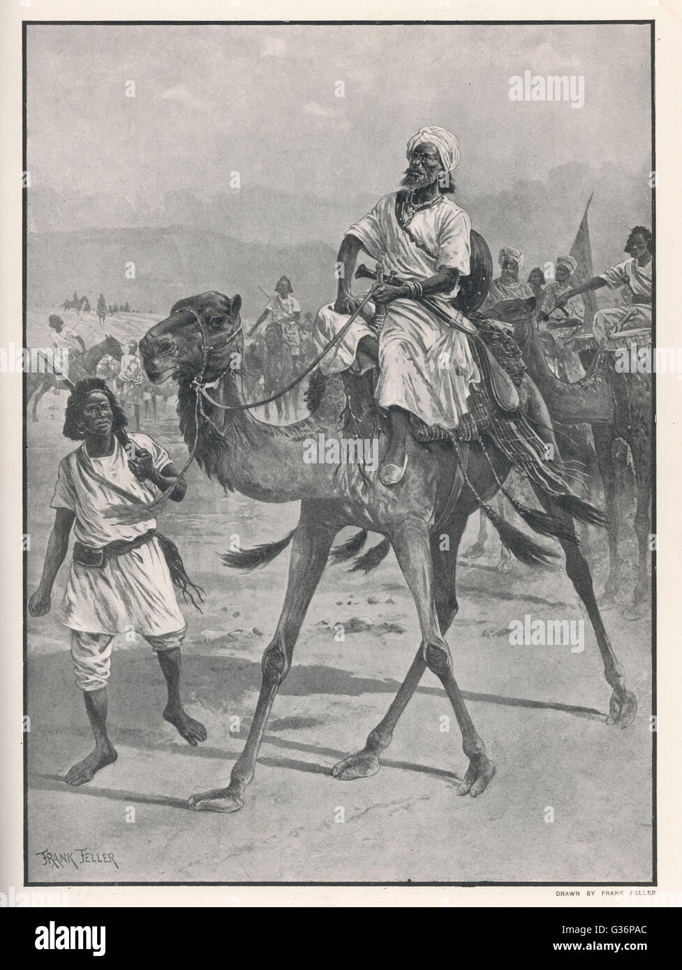 Mohammed Abdullah Hassan, Somali religious and nationalist leader, nicknamed The Mad Mullah by the British.  He - Stock Image