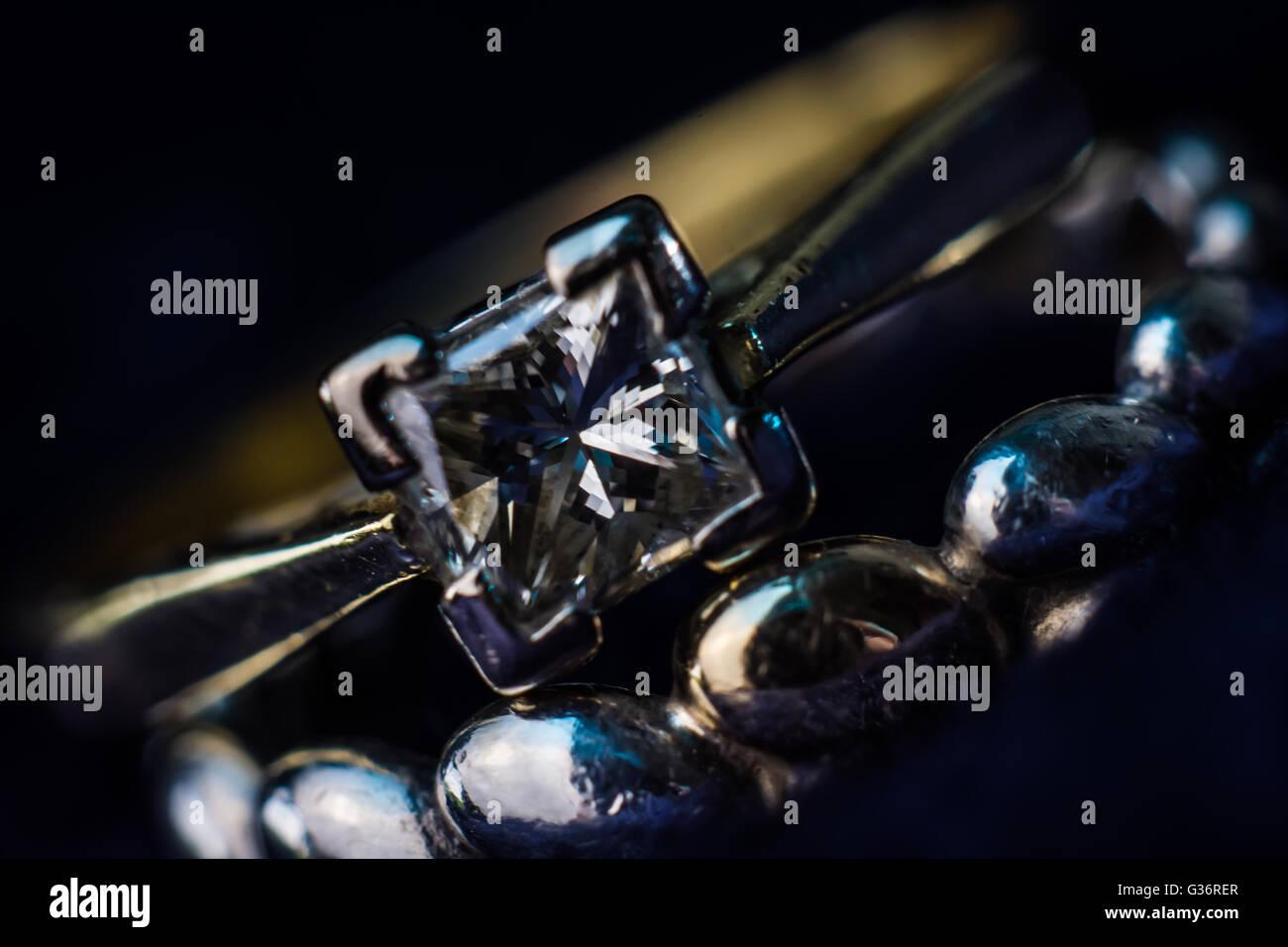 Ring jewel diamond gem - Stock Image