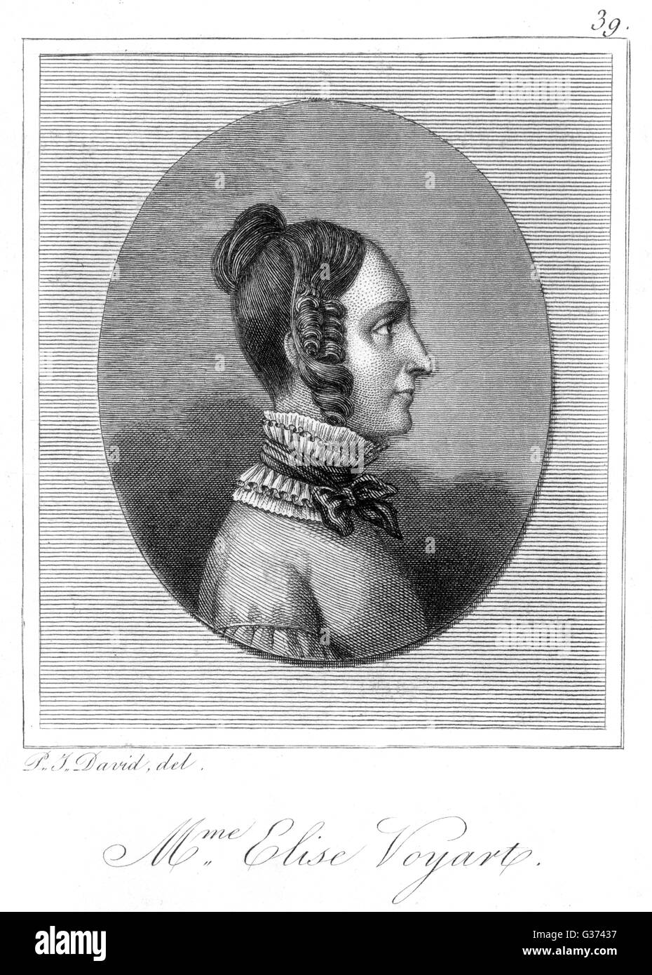 ELISE VOIART French historian of dance         Date: 1786 - 1866 - Stock Image