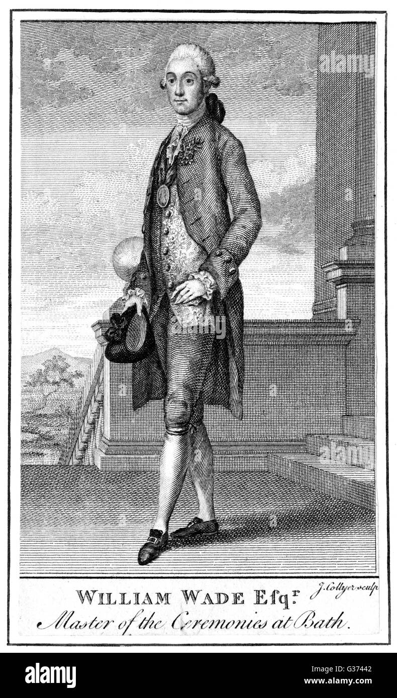 WILLIAM WADE first Master of Ceremonies in  the Upper Rooms at Bath, where  he presided 1769 - 1777.       Date: - Stock Image