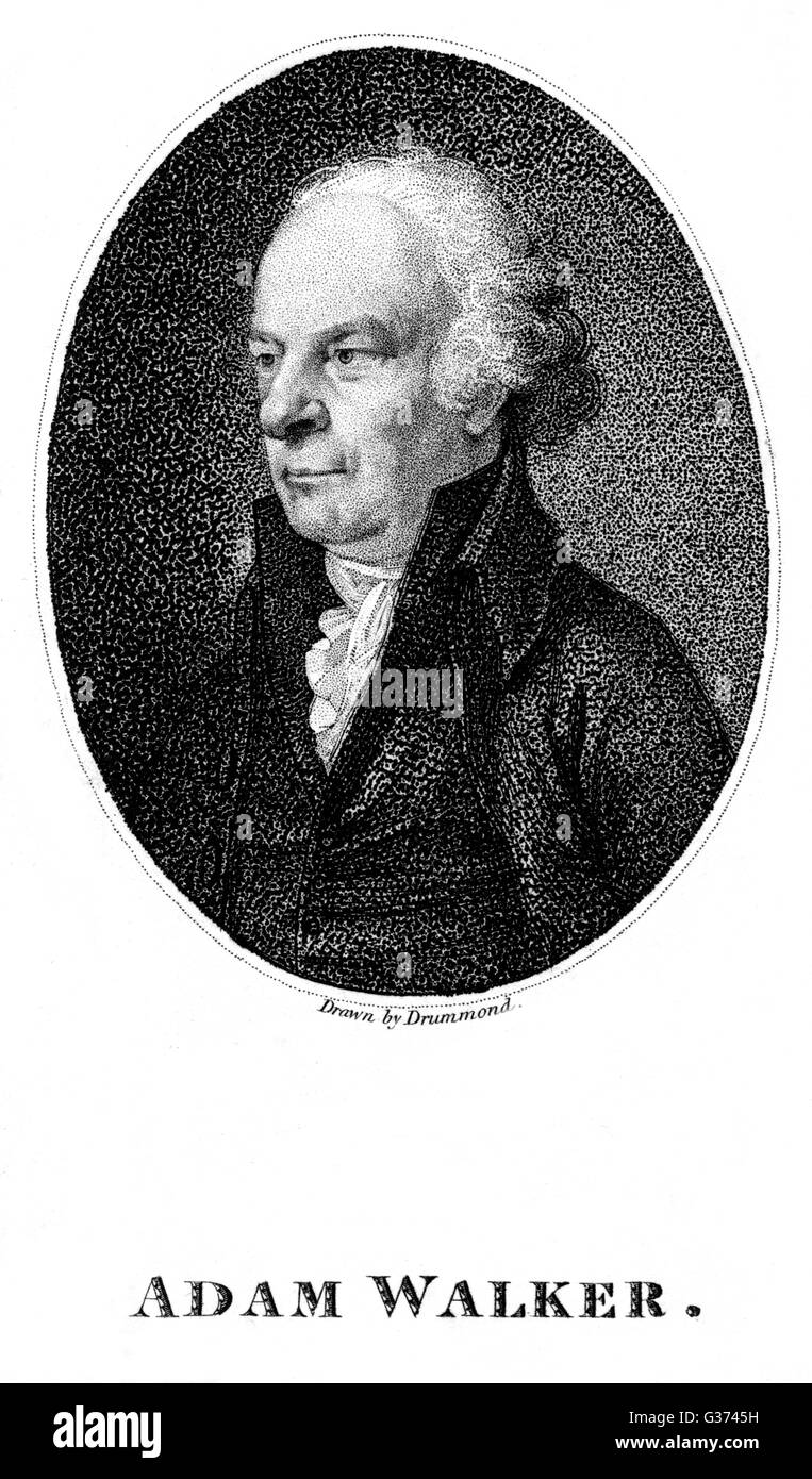 ADAM WALKER inventor of devices for  ventilation etc.        Date: 1731 - 1821 - Stock Image