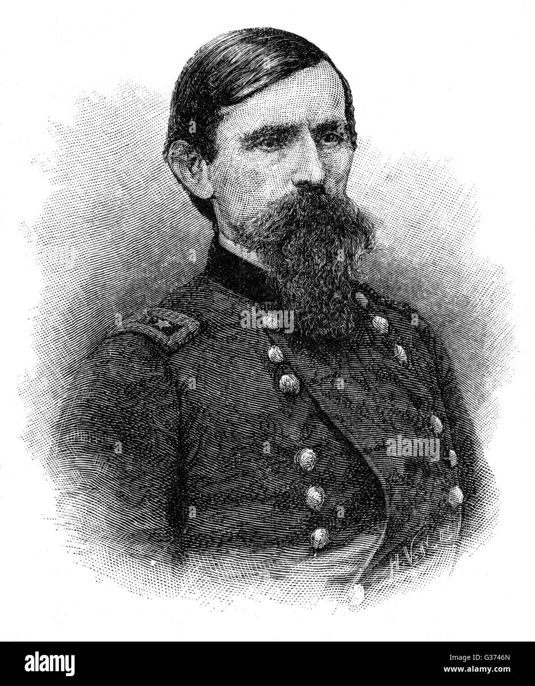 Major-general LEW WALLACE American military commander,  best-known for his book 'Ben  Hur'.       Date: - Stock Image
