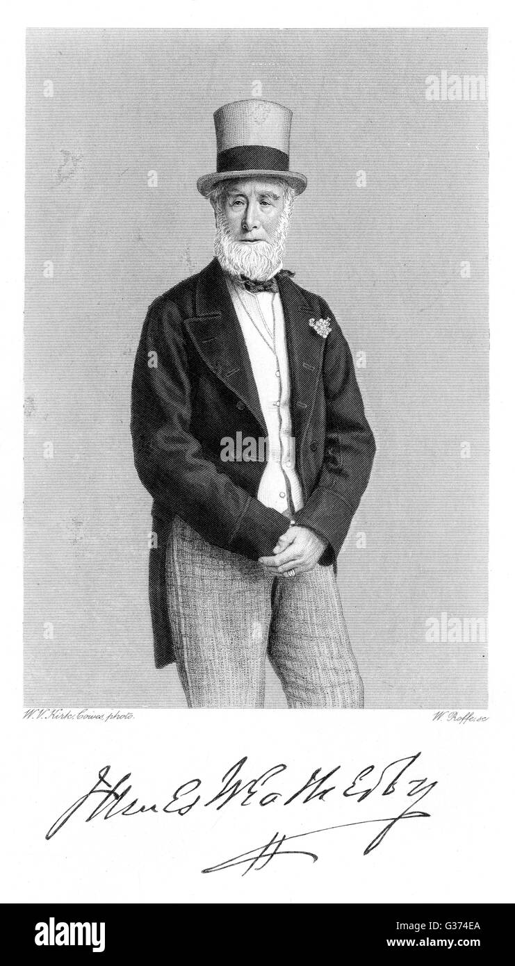 JAMES WEATHERBY sportsperson  with his autograph       Date: 1810? - ? - Stock Image