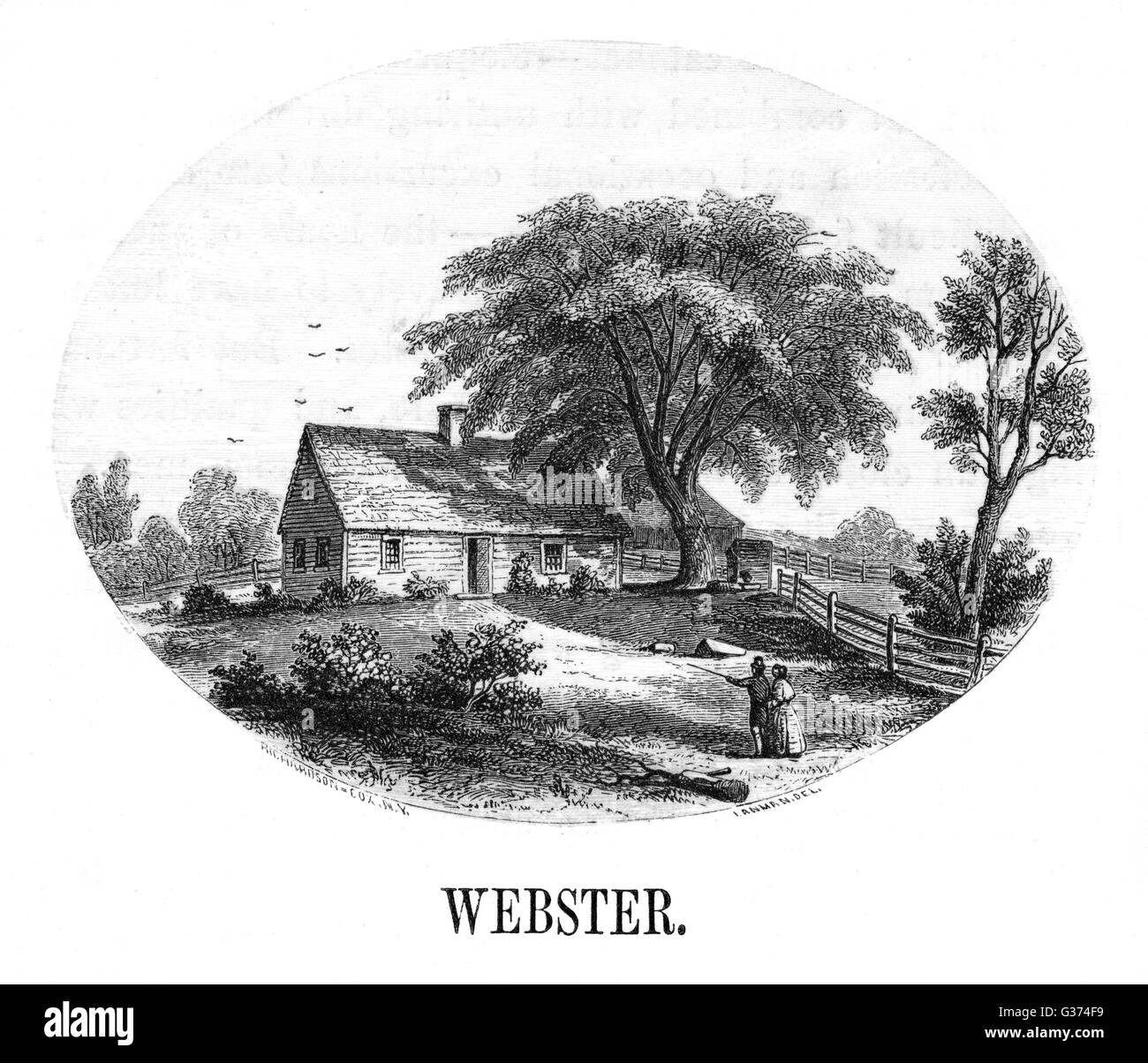 DANIEL WEBSTER's birthplace          Date: 1782 - Stock Image
