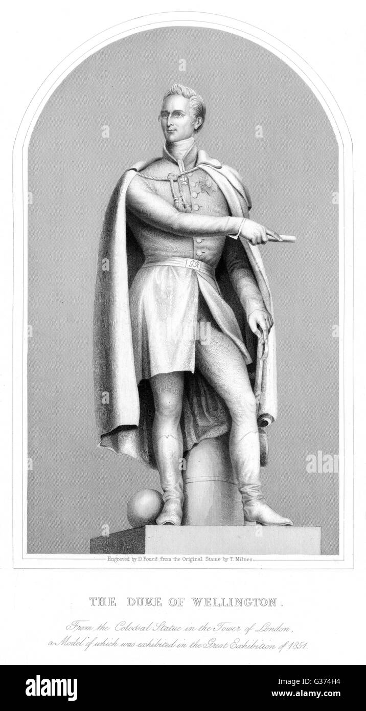 ARTHUR WELLESLEY, duke of  WELLINGTON soldier        Date: 1769 - 1852 - Stock Image