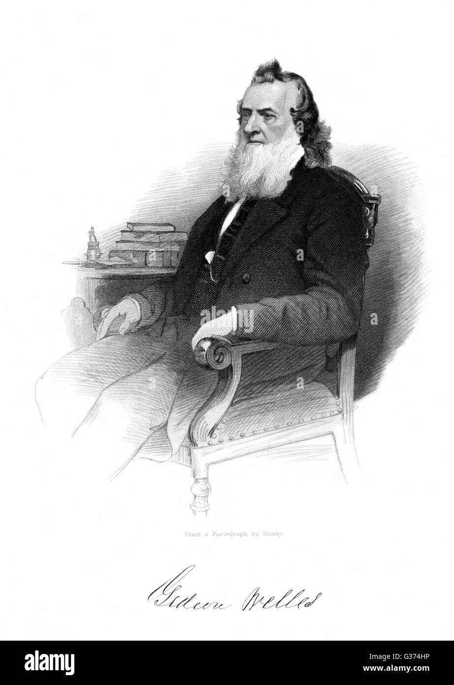GIDEON WELLES American statesman         Date: 1802 - 1878 Stock Photo