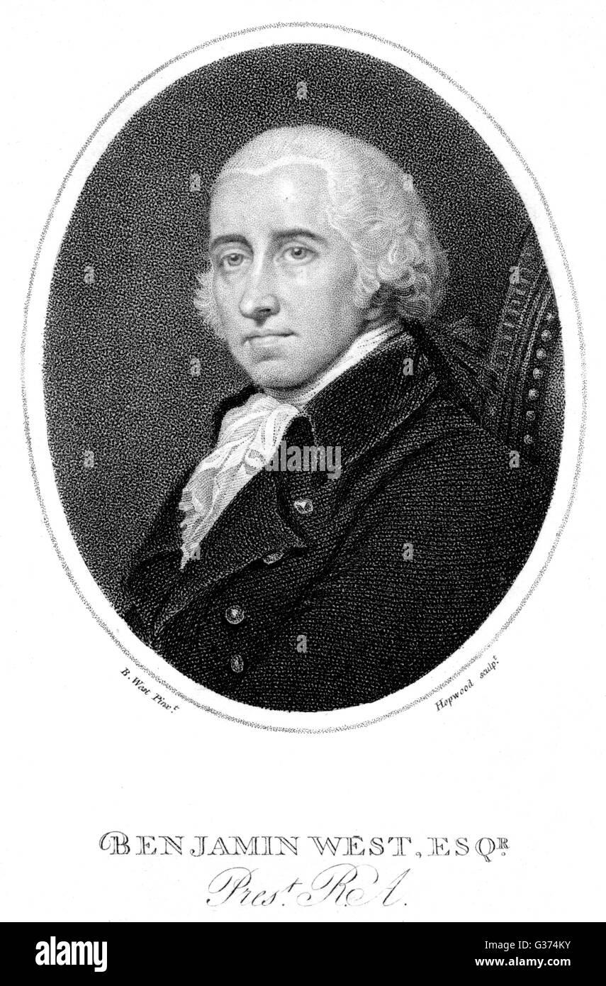 BENJAMIN WEST American artist         Date: 1738 - 1820 Stock Photo