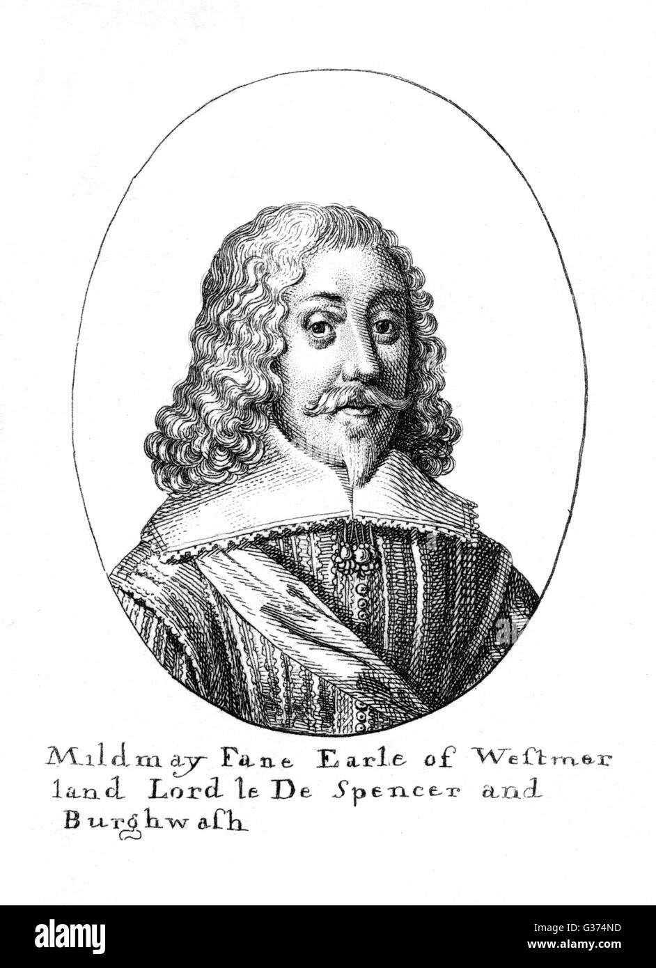 MILDMAY FANE, second earl of  WESTMORLAND statesman and writer        Date: ? - 1666? Stock Photo