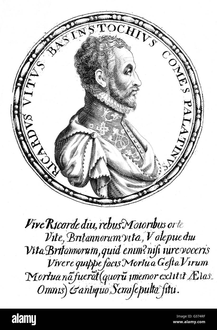 RICHARD WHITE jurist and historian         Date: 1539 - 1611 - Stock Image