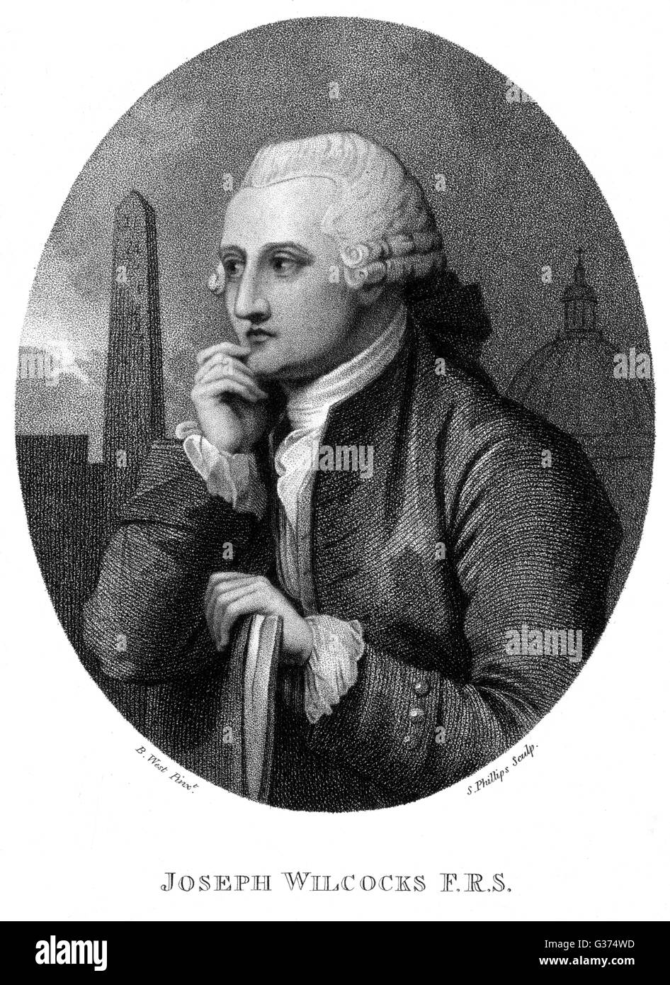 JOSEPH WILCOCKS antiquary         Date: 1724 - 1791 - Stock Image