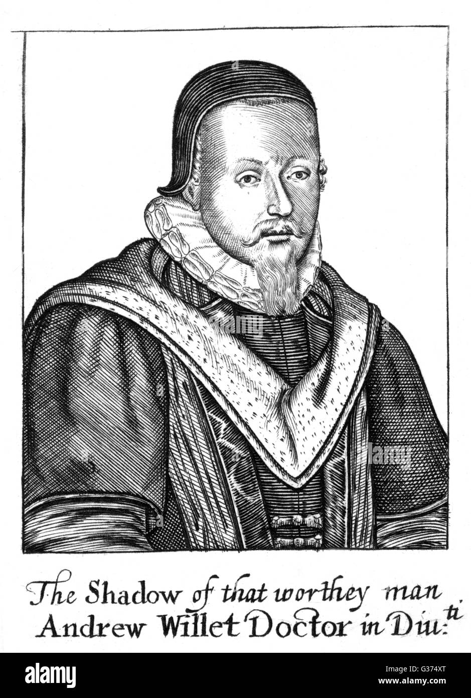 ANDREW WILLET controversial churchman         Date: 1562 - 1621 - Stock Image