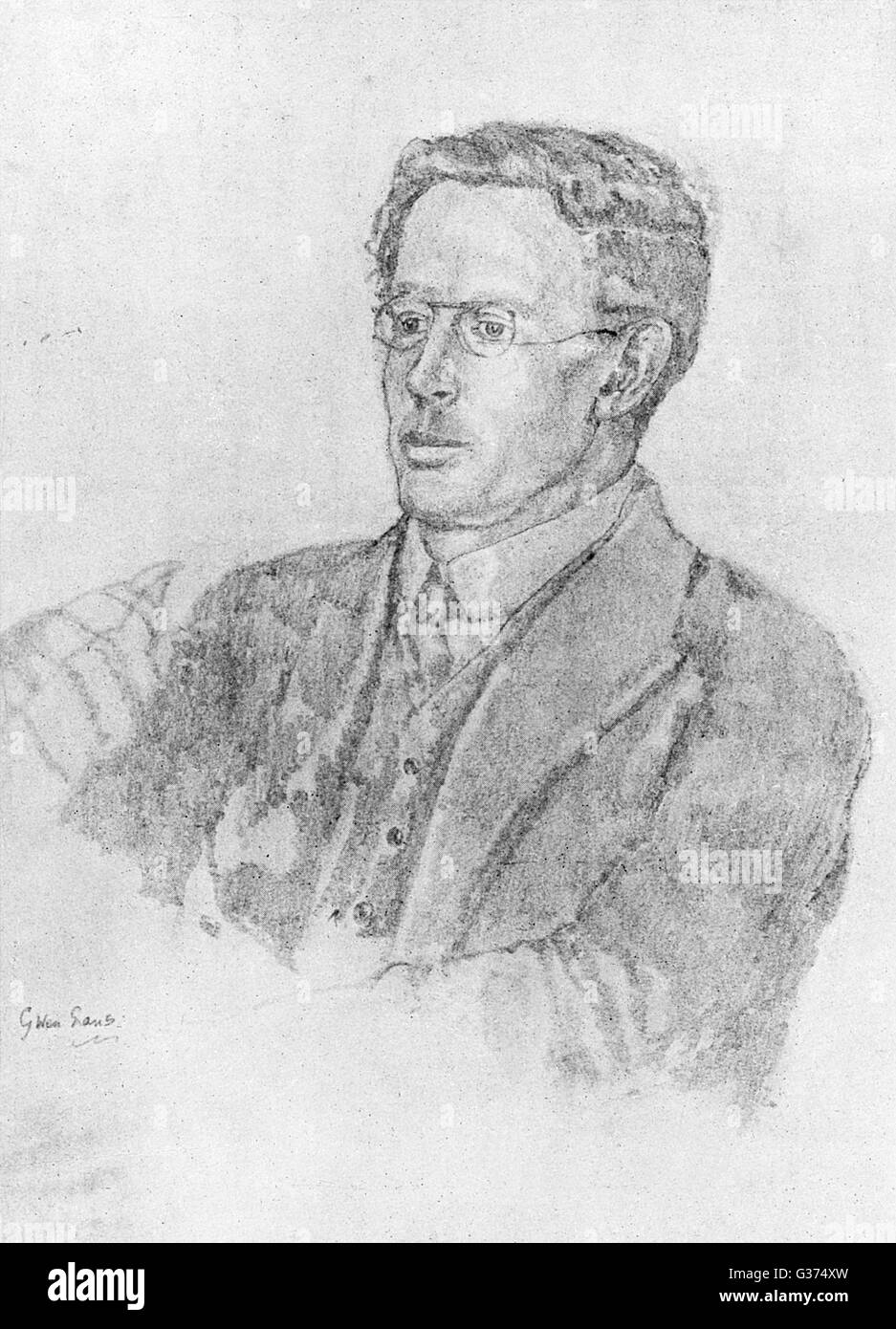CHARLES WILLIAMS writer and scholar, author of  novels of the supernatural  such as 'War in heaven' and - Stock Image