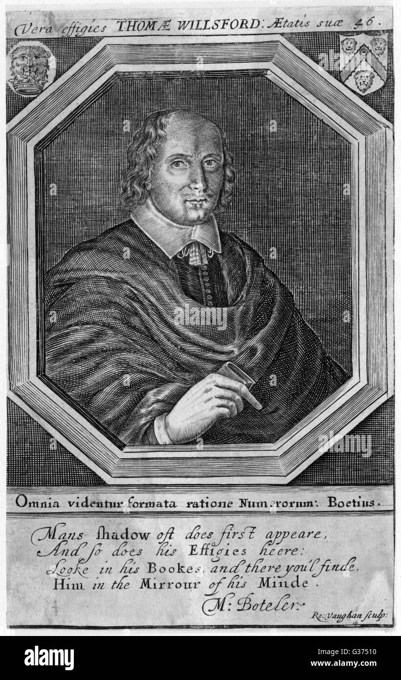 THOMAS WILLSFORD mathematician and alchemist,  author of 'Nature's secrets'        Date: 1612? - 1658+ - Stock Image