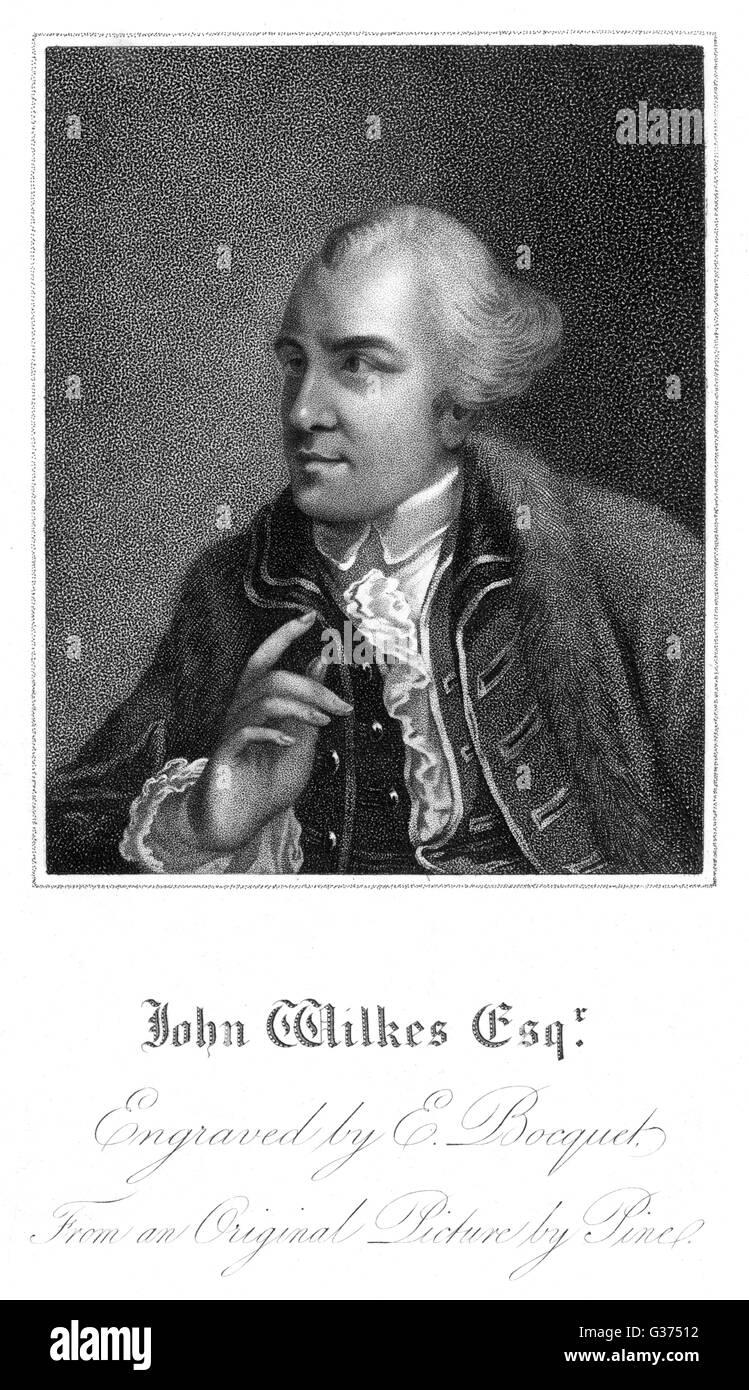 JOHN WILKES alderman and radical statesman         Date: 1725 - 1797 - Stock Image