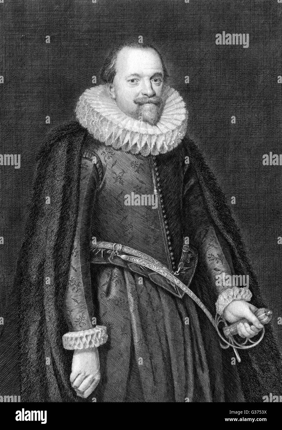 Sir RALPH WINWOOD statesman, secretary of state  and diplomat, aged 49.        Date: 1563 - 1617 - Stock Image