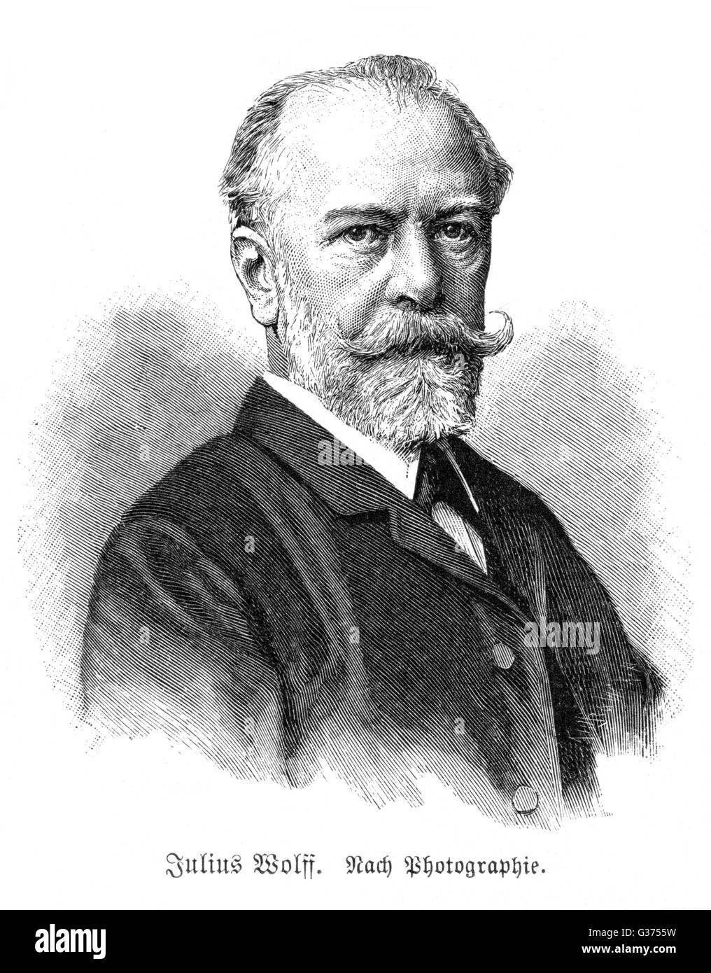JULIUS WOLFF German writer         Date: 1834 - 1910 - Stock Image