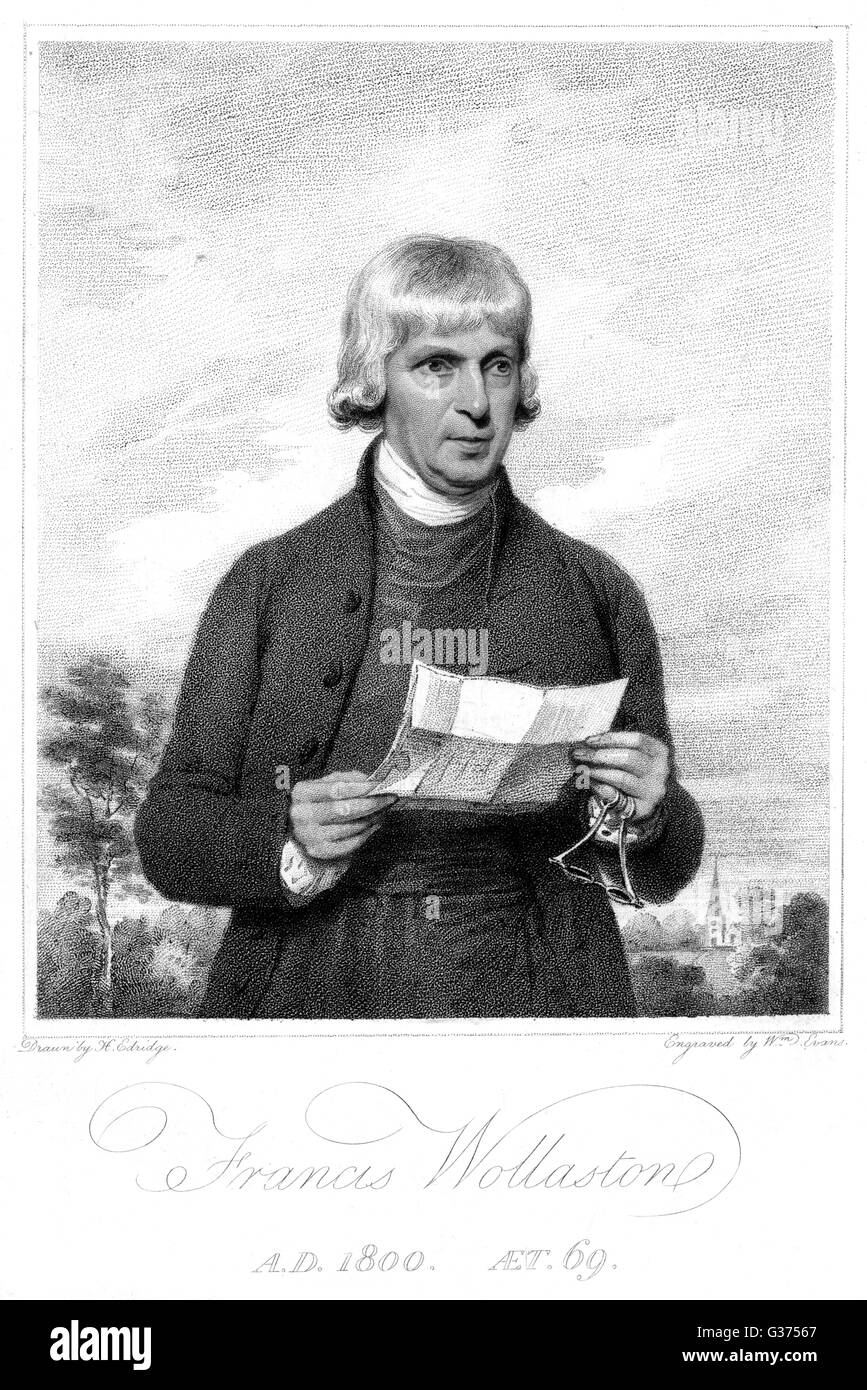 FRANCIS WOLLASTON writer on astronomy         Date: 1731 - 1815 - Stock Image