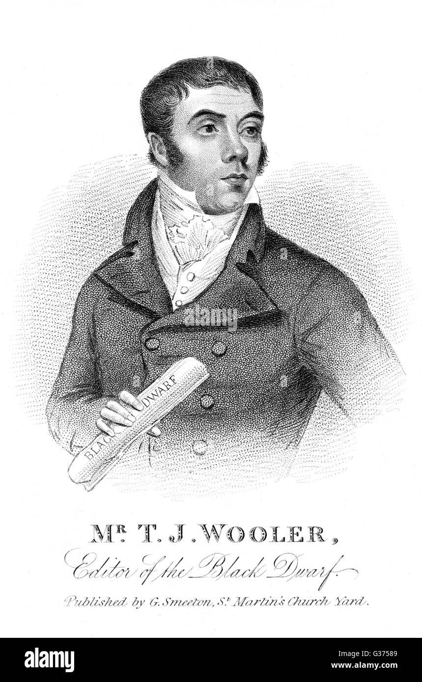 THOMAS JONATHAN WOOLER radical journalist, editor of  'The Red Dwarf'.        Date: 1786 - 1853 - Stock Image