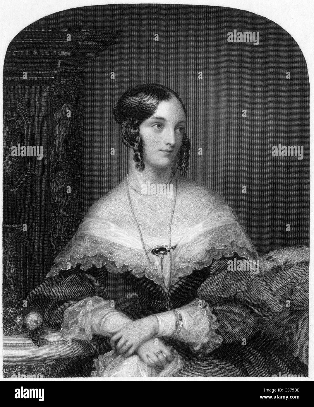 MARIE ADELAIDE, countess of  YARBOROUGH wife of Charles, second earl : she subsequently married  viscount Oxenbridge. - Stock Image