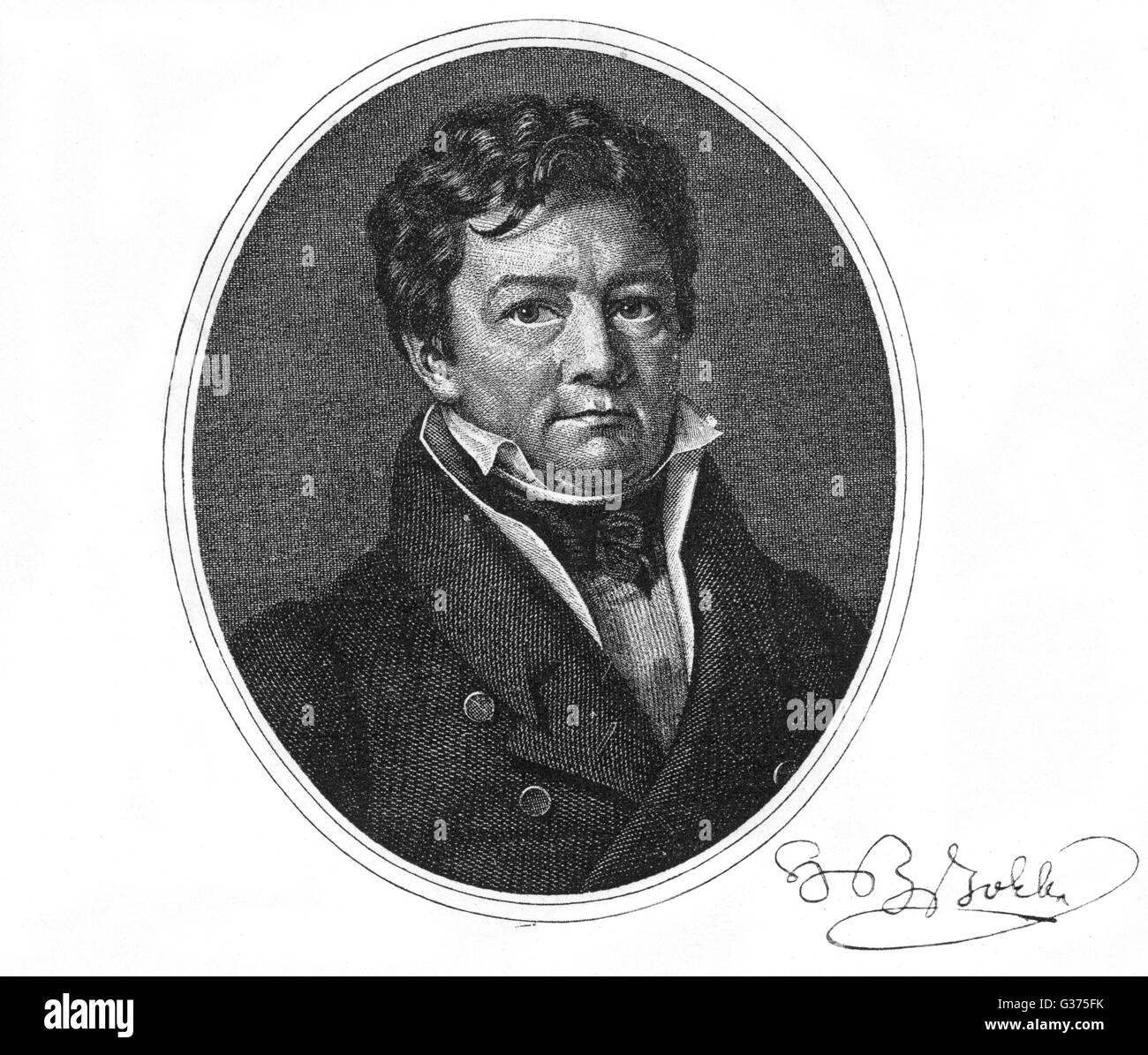 HEINRICH ZSCHOKKE German writer         Date: 1771 - 1848 Stock Photo