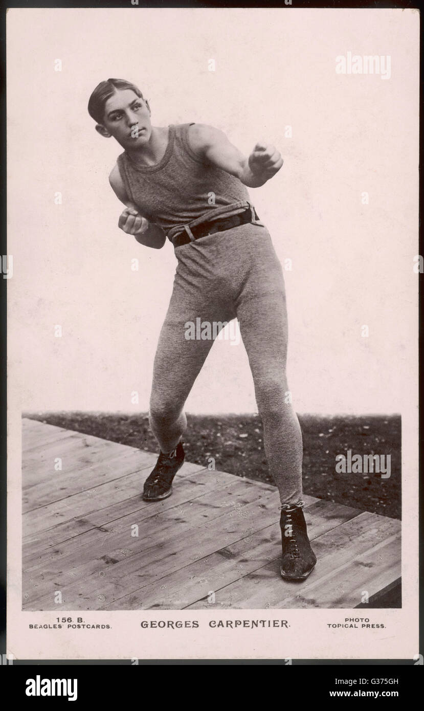 GEORGES CARPENTIER French boxer, considered the  greatest European boxer of all  time.       Date: 1894 - 1975 - Stock Image