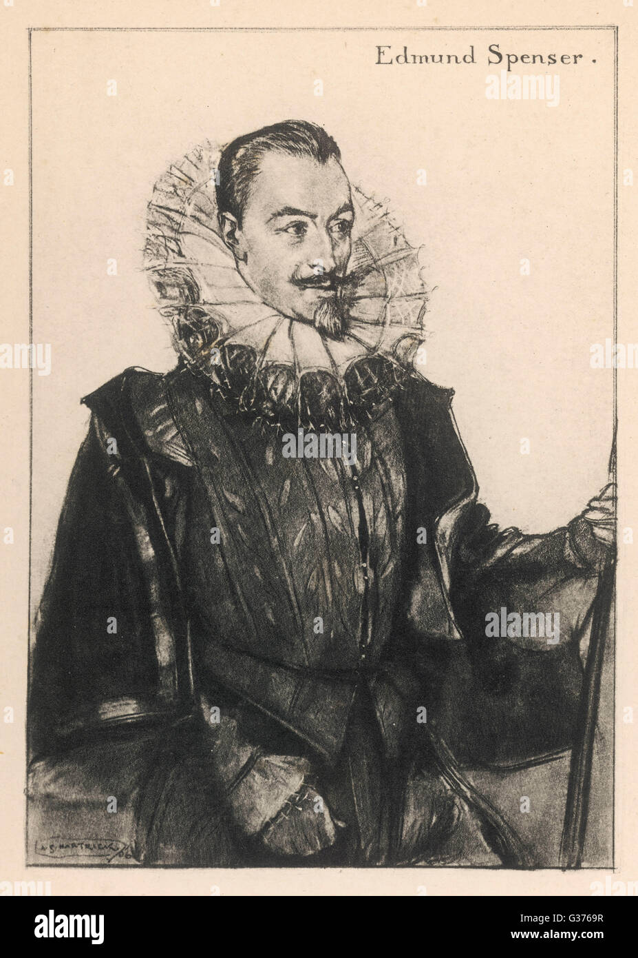 EDMUND SPENSER Writer         Date: 1552 - 1599 - Stock Image