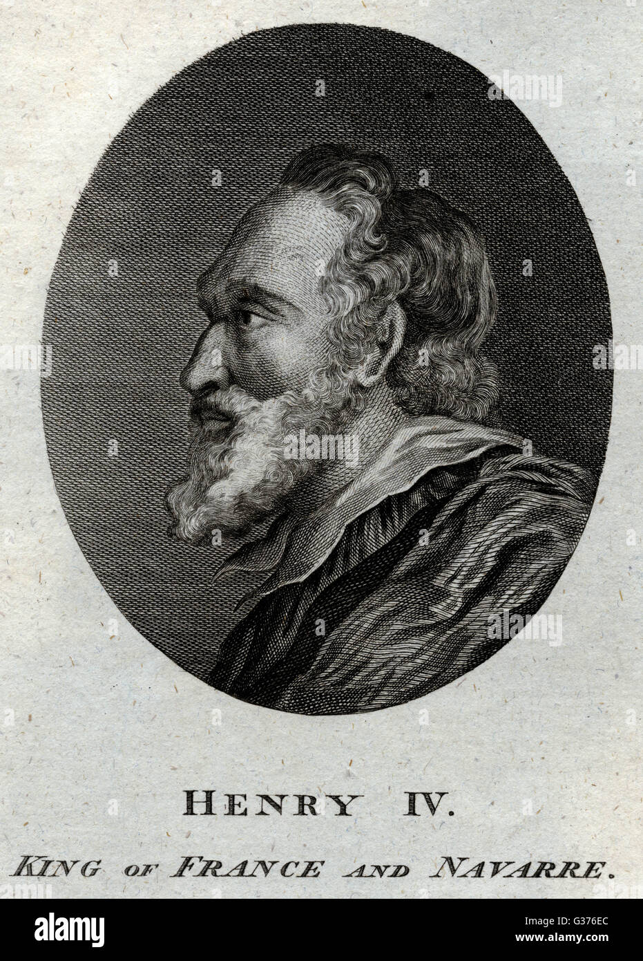 HENRI IV,  King of France and Navarre.        Date: 1553 - 1610 - Stock Image