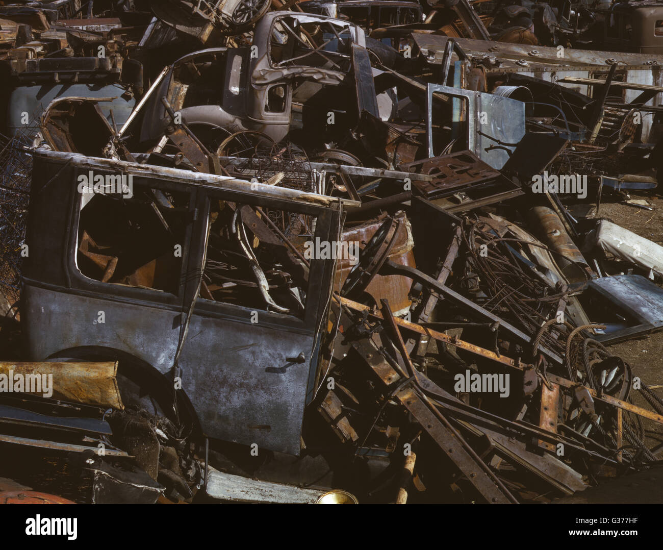 Scrap and salvage depot, Butte, Mont. Date 1942 Oct. - Stock Image
