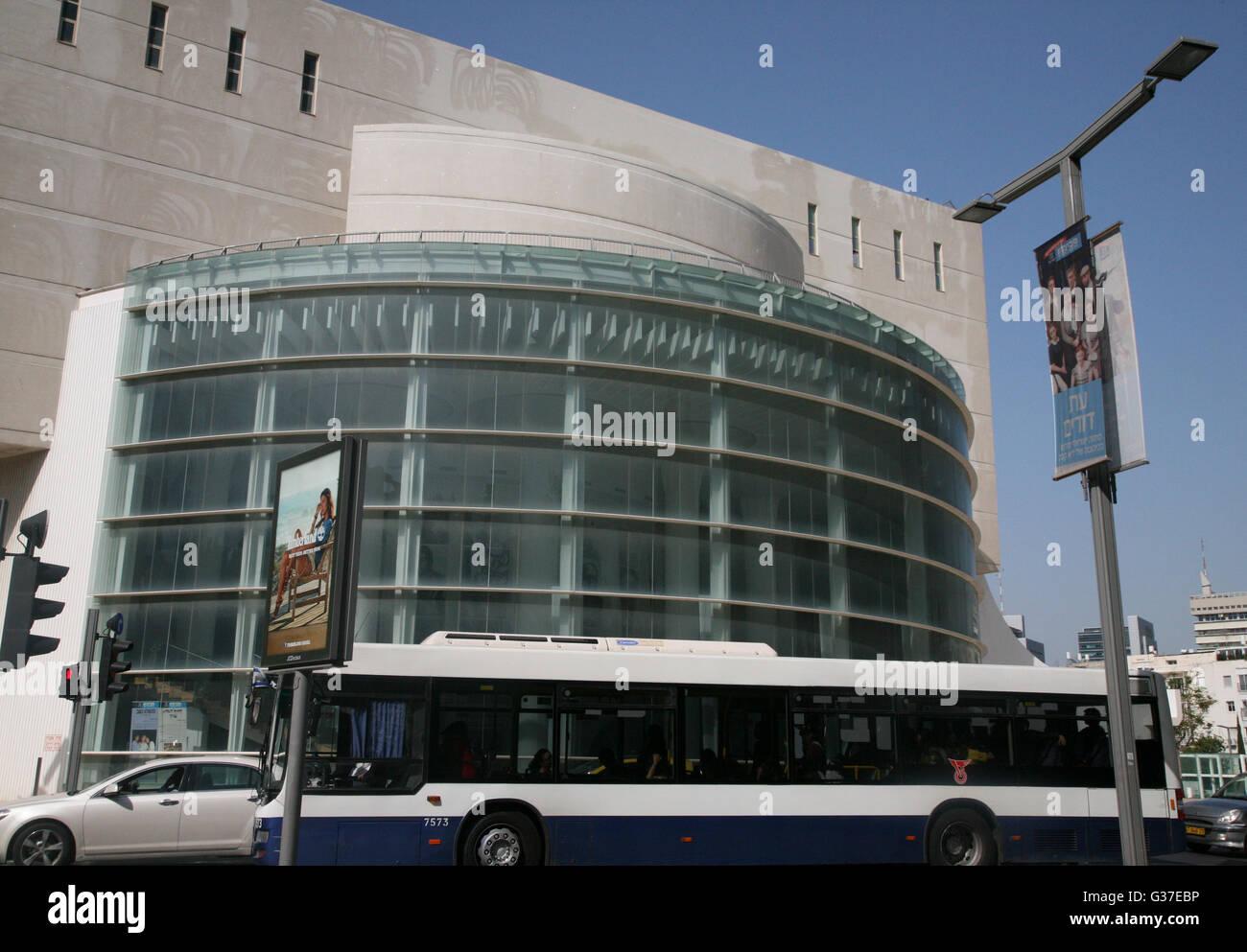 Israel , Tel Aviv, the popular Habima Theatre, where theatrical performances take place. - Stock Image