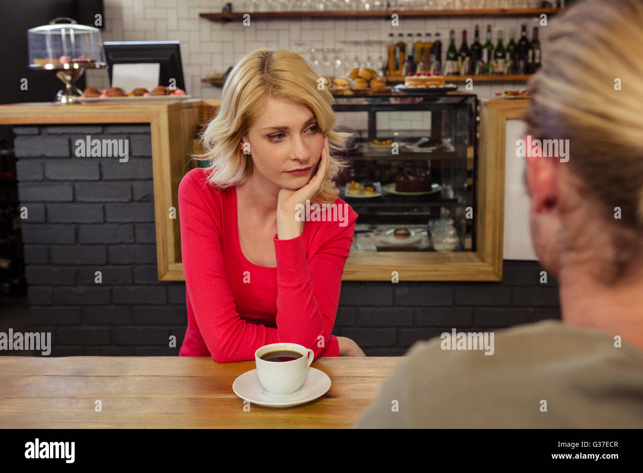 Couple having relationship difficulties - Stock Image