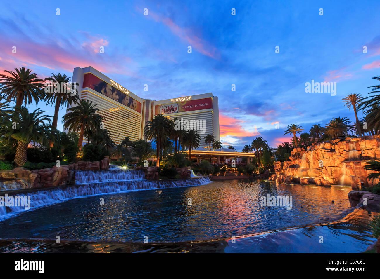 AUG 5, Las Vegas: The famous Mirage Casino on AUG 5, 2015 at Las Vegas, Nevada - Stock Image