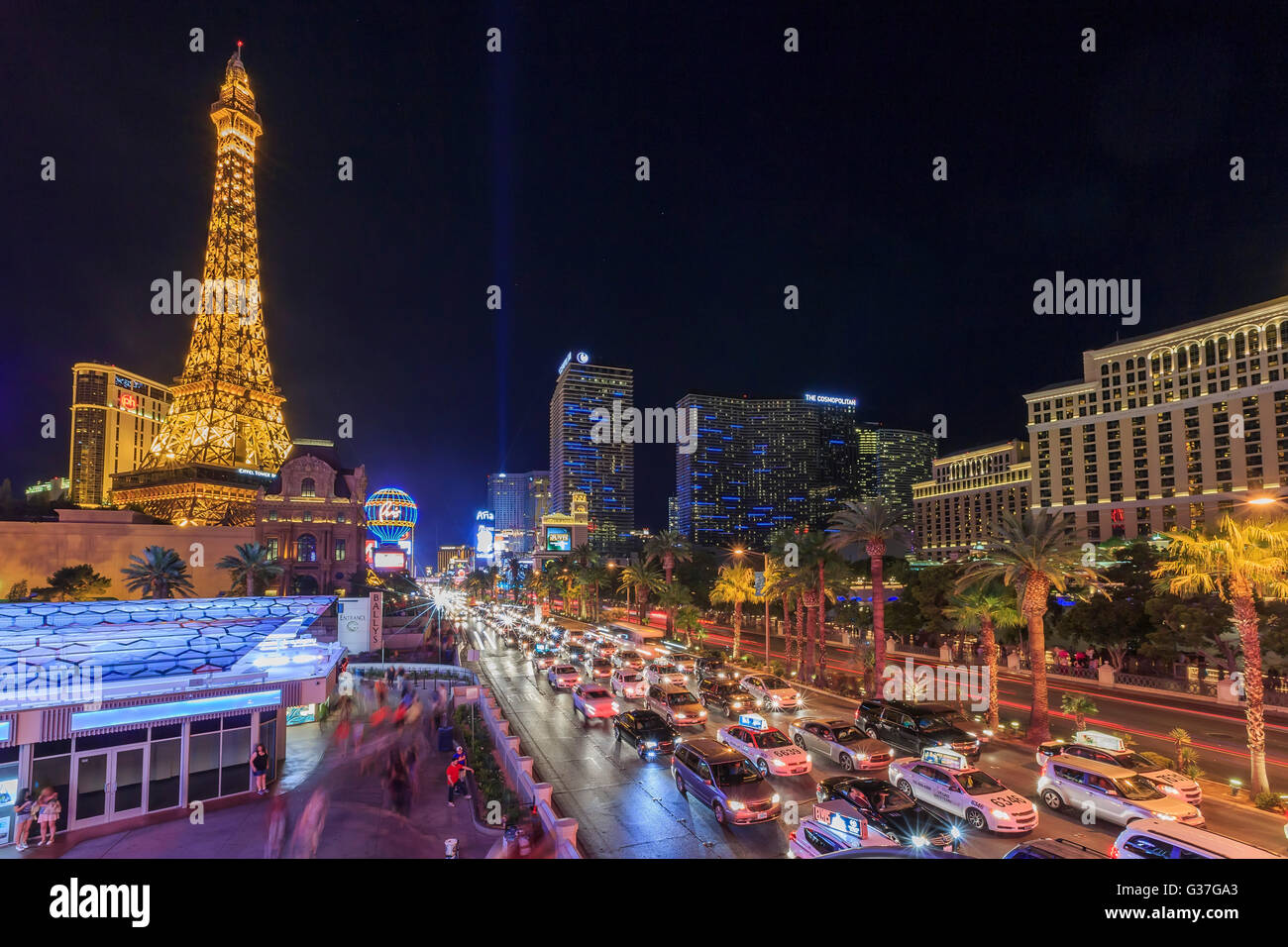 AUG 5, Las Vegas: The famous Paris Las Vegas Casino on AUG 5, 2015 at Las Vegas, Nevada - Stock Image