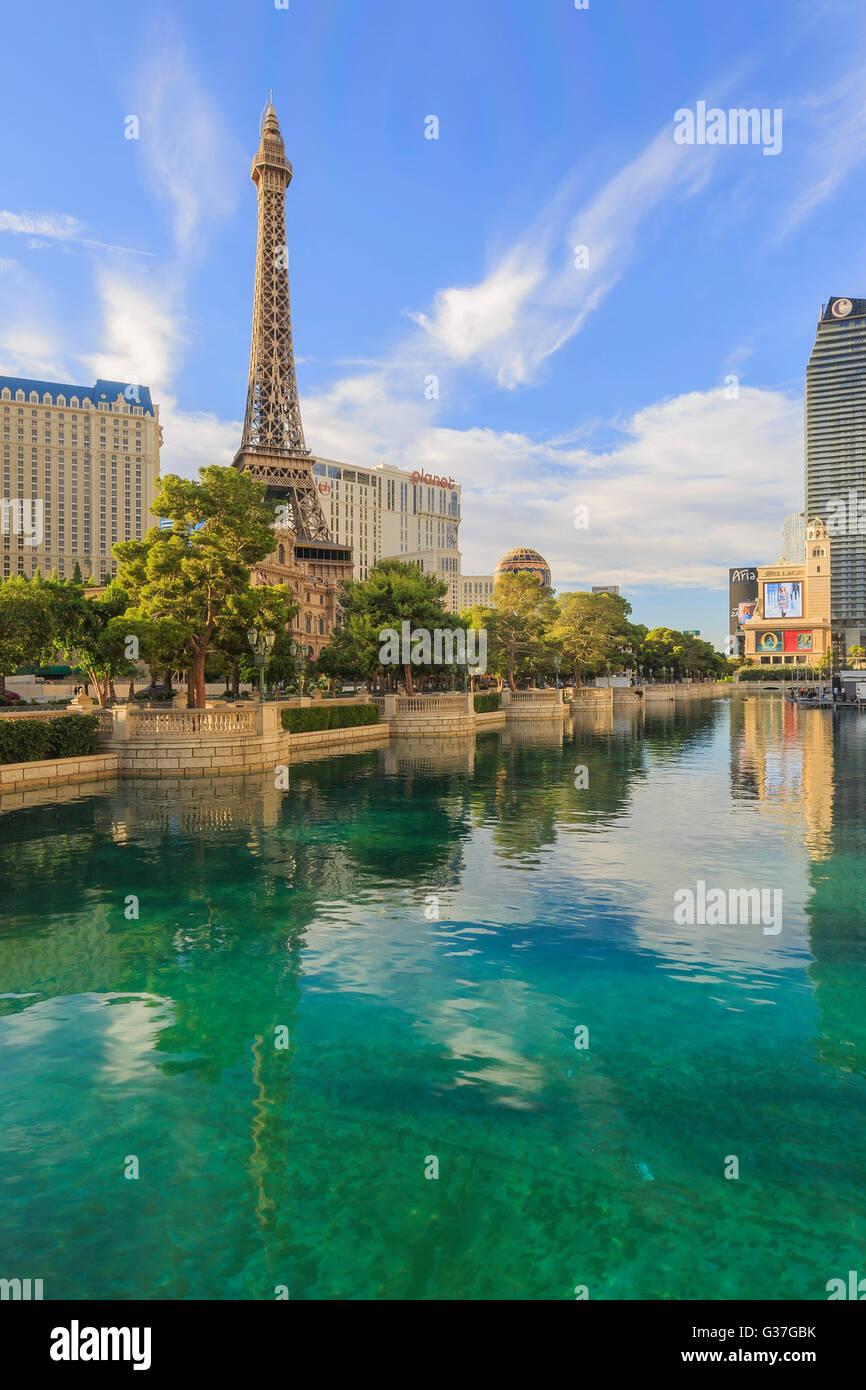 AUG 5, Las Vegas: The famous Paris Las Vegas Casino on AUG 5, 2015 at Las Vegas, Nevada - Stock Image