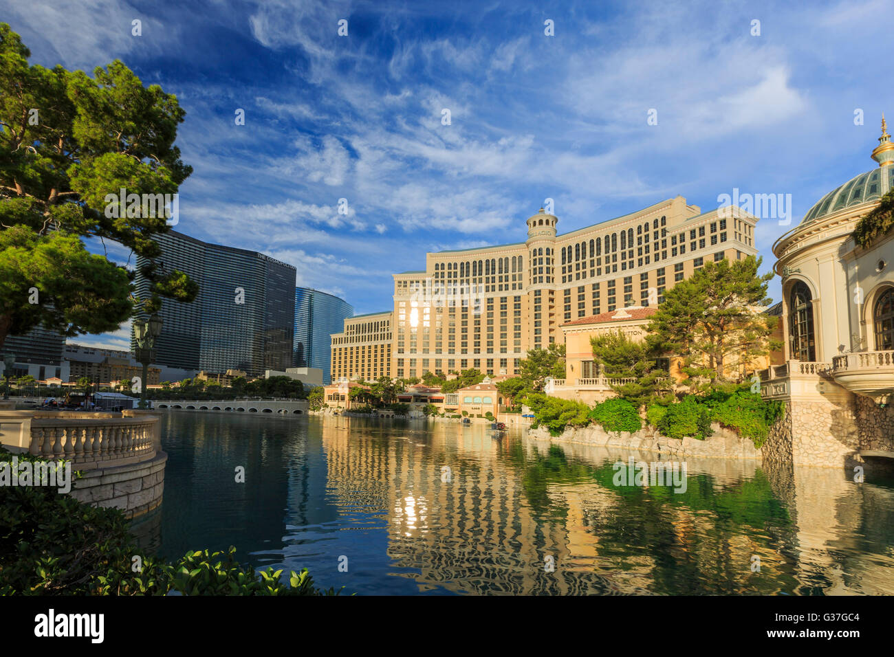 AUG 5, Las Vegas: The famous Bellagio Hotel and Casino on AUG 5, 2015 at Las Vegas, Nevada - Stock Image