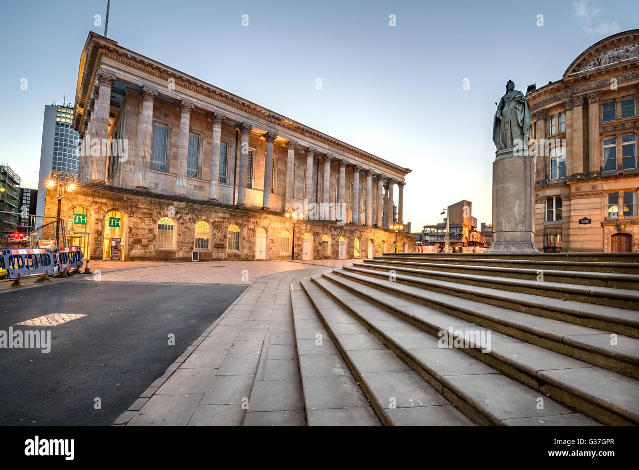 Birmingham Town Hall is situated in Victoria Square, Birmingham, England. - Stock Image