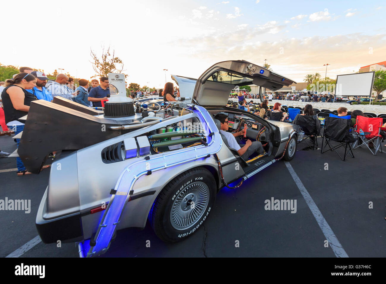 OCT 25, California: Back to Future Anniversary on OCT 25, 2015 at Twin Pines Mall, California - Stock Image