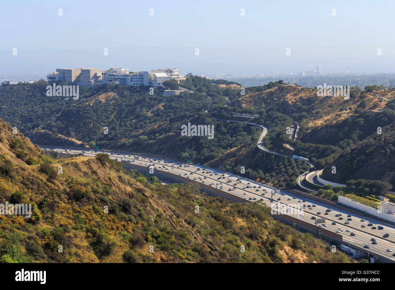 APR 20, Los Angeles: The famous getty center view from the getty view park on APR 20, 2015 at Los Angeles - Stock Image