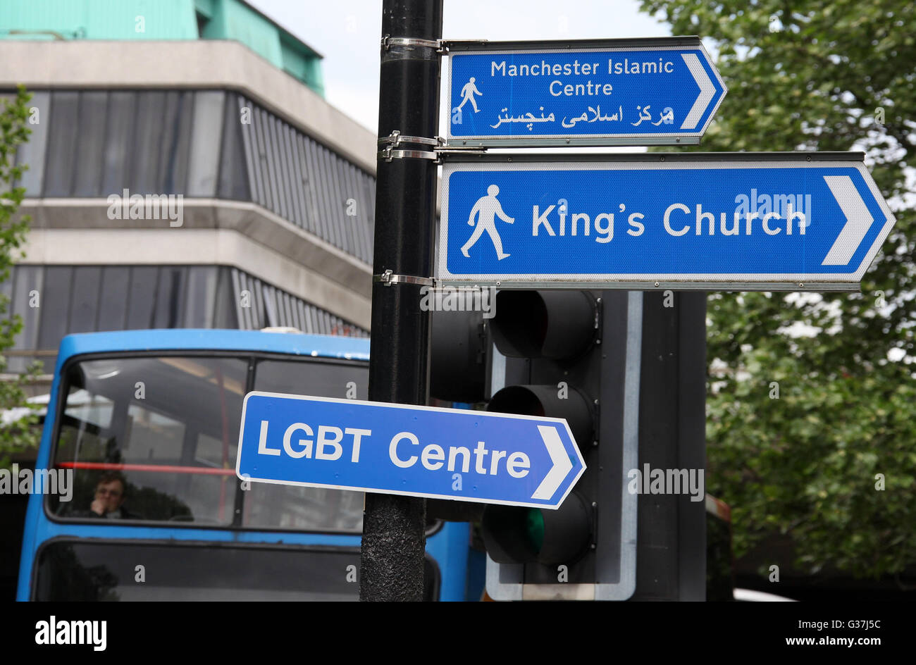LGBT Centre Sign in Manchester - Stock Image