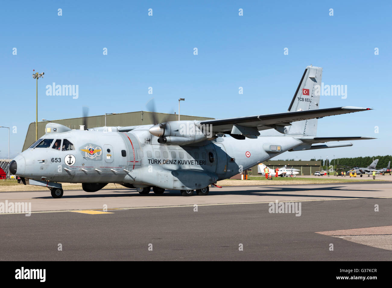 Turkish Navy (Türk Deniz Kuvvetleri) Airtech (CASA) CN-235-100MPA Maritime Patrol Aircraft. - Stock Image
