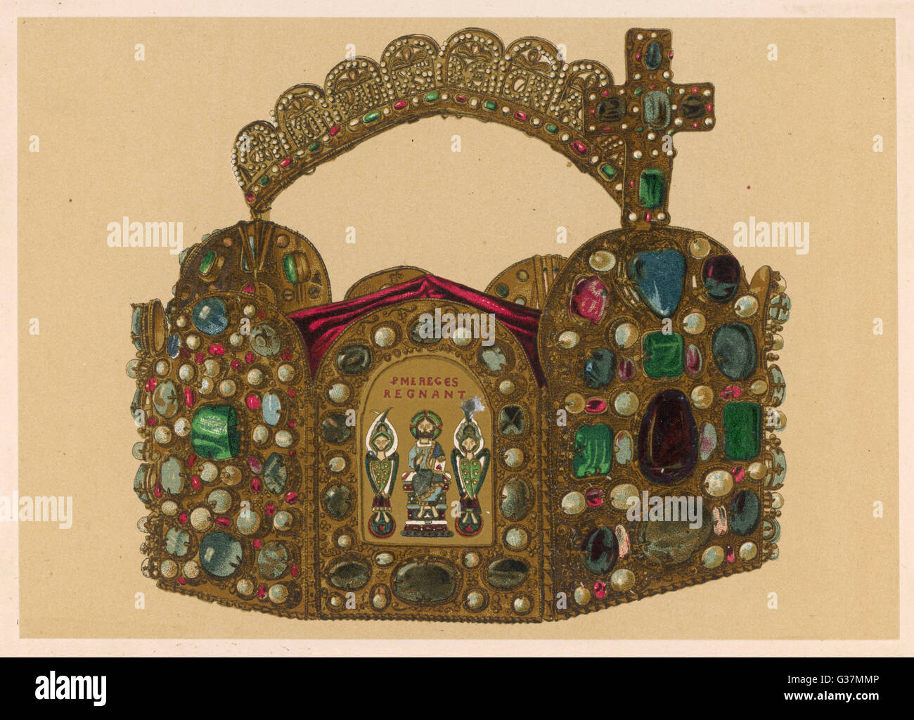 CROWN OF CHARLEMAGNE          Date: 800 - Stock Image