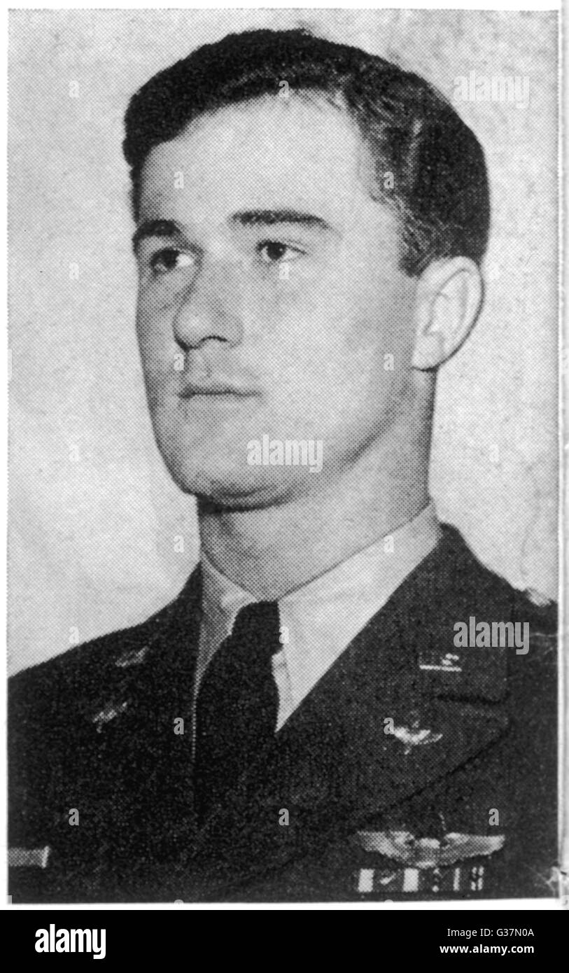 Captain Thomas Mantell, 25- year old USAF pilot, who died  pursuing a UFO, now generally  considered to have been - Stock Image