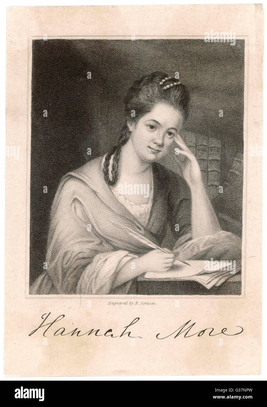 Hannah More English writer and reformer.        Date: circa 1770s - Stock Image