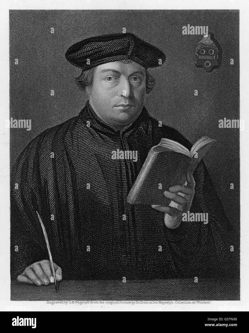 Martin Luther German religious reformer        Date: circa 1510 - Stock Image