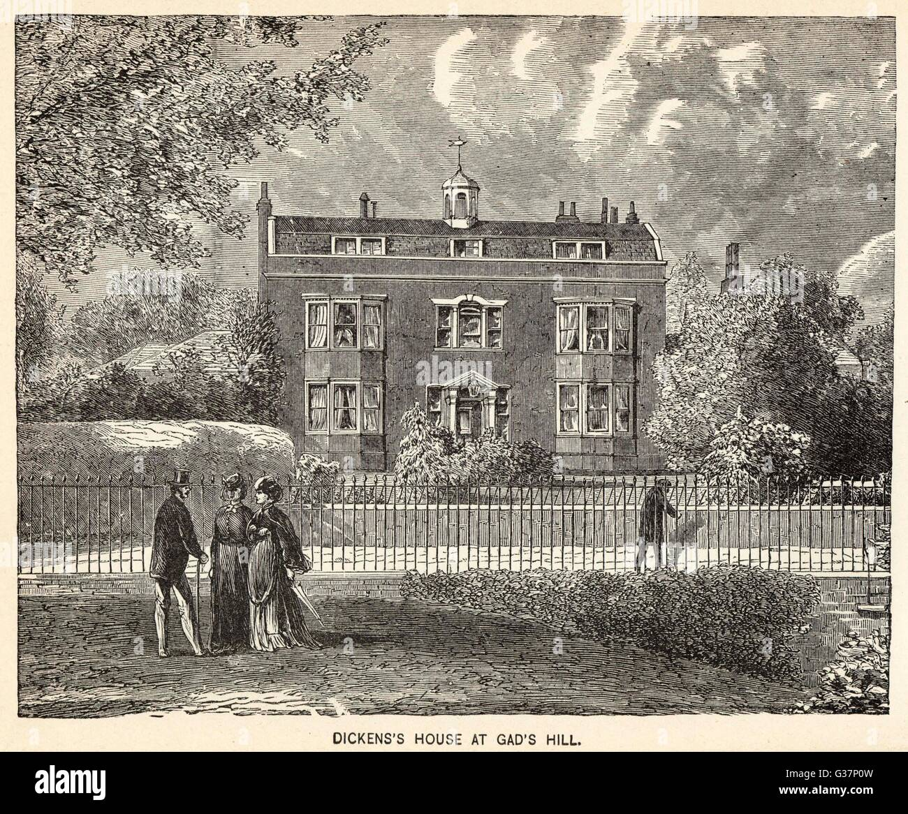 His home at Gad's Hill, near Rochester, Kent         Date: 1812 - 1870 - Stock Image