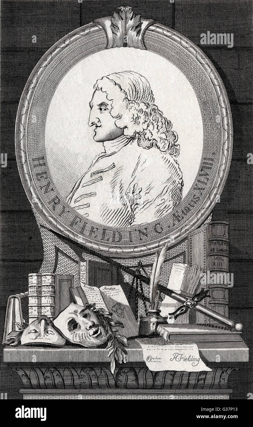 Henry Fielding -  English novelist.        Date: circa 1750s - Stock Image