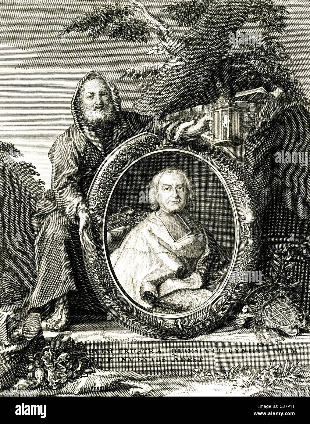 Andre Hercule Fleury -  French divine and statesman.        Date: circa 1730s - Stock Image
