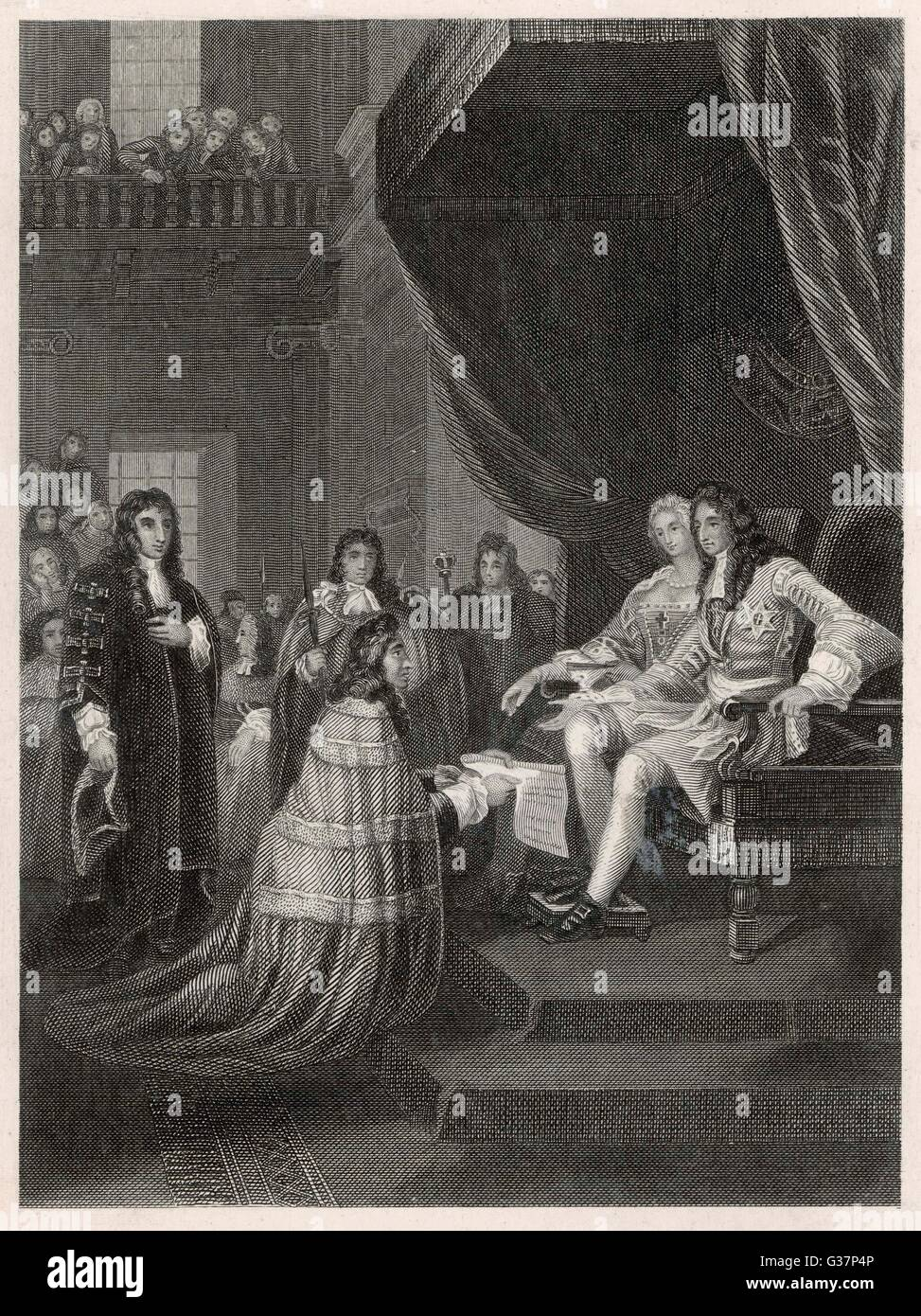 William and Mary accept the Bill of Rights. Date: 1689