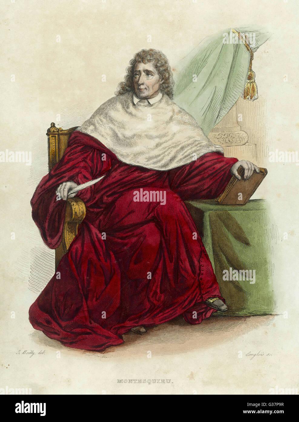baron de montesquieu was an enlightenment philosopher from